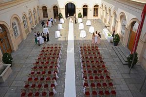 Courtyard Wedding Ceremony Palais Niederoesterreich